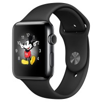 Смарт-часы Apple Watch S2 Sport 38mm Sp.Bl St.St/Sp.Bl (MP492RU/A)